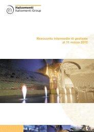 Relazione I trimestre - Italcementi Group