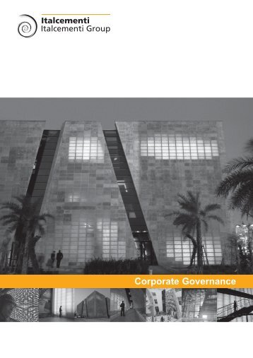 Corporate Governance - Italcementi Group