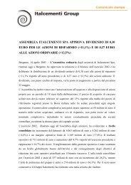 Comunicato stampa - Italcementi Group