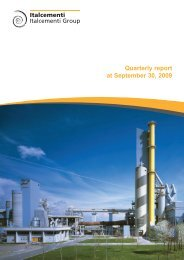 Consolidated quarterly report at 30 September ... - Italcementi Group