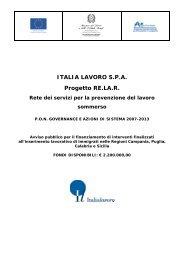 ITALIA LAVORO S.P.A. Progetto RE.LA.R. - Ministero del lavoro ...