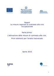 Ricognizione delle misure regionali di contrasto ... - Regione Marche