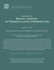 Social Justice in Transatlantic Perspective - The Italian Academy ...