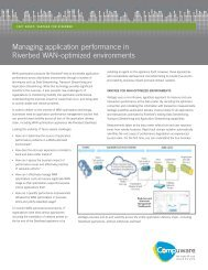 Managing application performance in Riverbed Wan-optimized ...