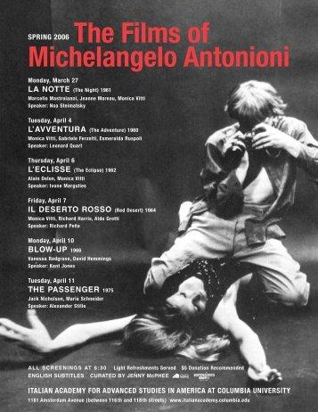 Michelangelo Antonioni - The Italian Academy - Columbia University