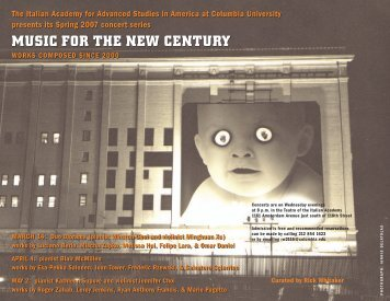 music for the new century music for the new century - The Italian ...