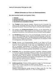 stilblatt 1 - Institut für Italienische Philologie