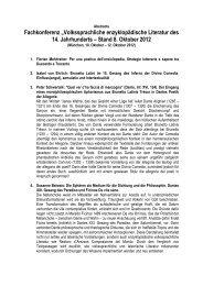 """Fachkonferenz """"Volkssprachliche enzyklopädische Literatur des 14 ..."""