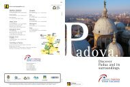 Discover Padua and its surroundings.