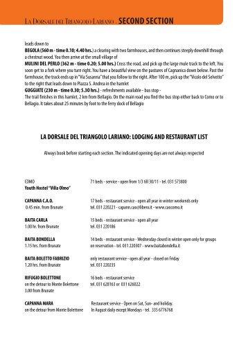 LA DORSALE DEL TRIANGOLO LARIANO - SECOND SECTION