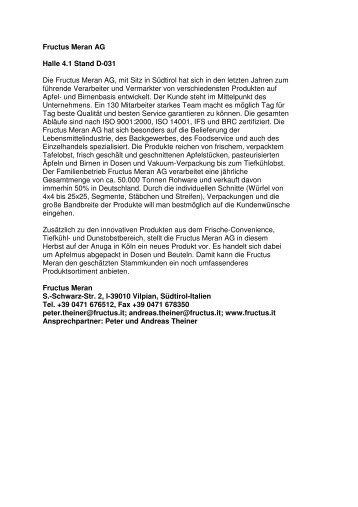 Profile Südtiroler Aussteller (PDF)