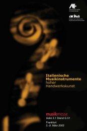 Halle 3.1 Stand G 51 Frankfurt 5.-9. März 2003 - Italienisches Institut ...