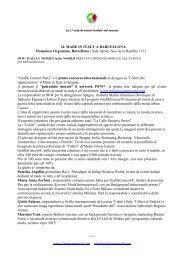 IL MADE IN ITALY A BARCELLONA Domenica 10 ... - Italpyme