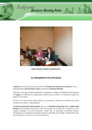 AL PARLAMENTO DE CATALUNYA - Italpyme