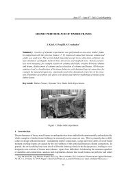 SEISMIC PERFORMANCE OF TIMBER FRAMES