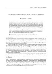 experimental approaches for safety evaluation of bridges
