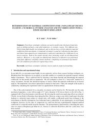 determination of material coefficients for a non-linear viscous fluid by ...