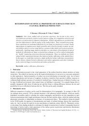 determination of optical properties of surfaces for use in cultural ...