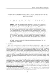 temperature-dependent dynamic analysis of the system strain gauge ...