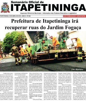Prefeitura de Itapetininga irá recuperar ruas do Jardim Fogaça