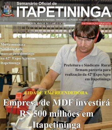 Empresa de MDF investirá R$ 500 milhões em Itapetininga ...