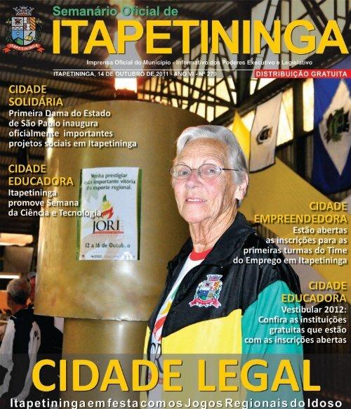 página 1.pmd - Prefeitura Municipal de Itapetininga