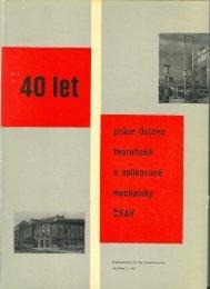 40 let práce Ústavu teoretické a aplikované mechaniky ČSAV