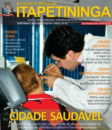 Edição 272 - Prefeitura Municipal de Itapetininga