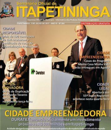 cidade educadora - Prefeitura Municipal de Itapetininga - Governo ...