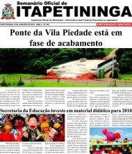 Ponte da Vila Piedade está em fase de acabamento - Prefeitura ...