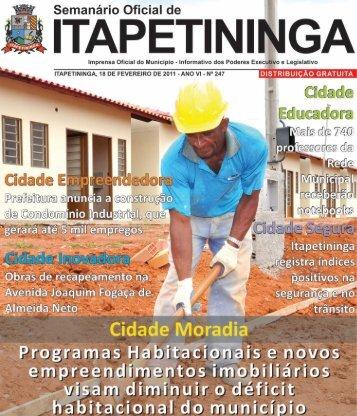 CIDADE PARTICIPATIVA - Prefeitura Municipal de Itapetininga ...