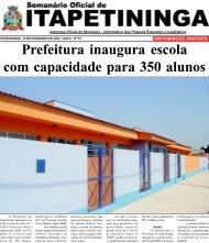 Prefeitura inaugura escola com capacidade para 350 alunos