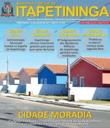Editorial - Prefeitura Municipal de Itapetininga