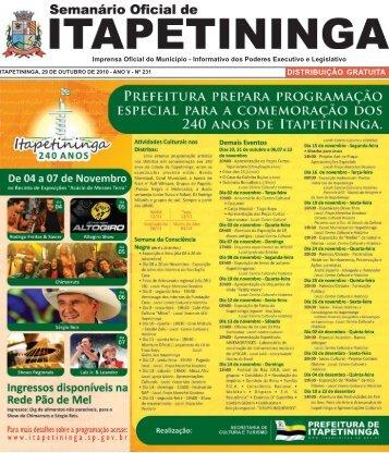 distribuição gratuita - Prefeitura Municipal de Itapetininga - Governo ...