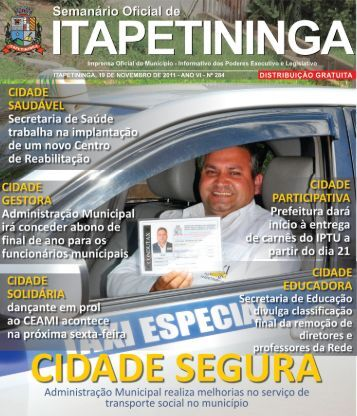 atos do poder executivo - Prefeitura Municipal de Itapetininga