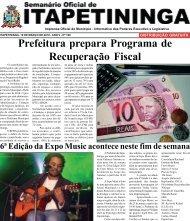 Prefeitura prepara Programa de Recuperação Fiscal