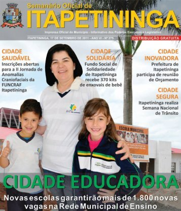 cidade saudável - Prefeitura Municipal de Itapetininga