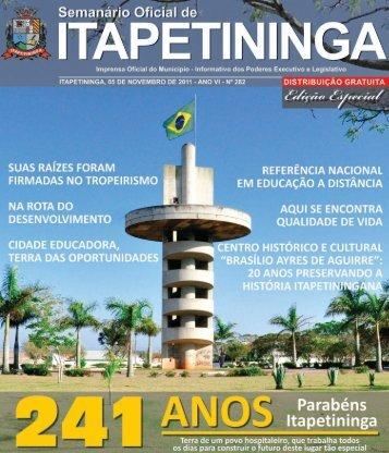 Editorial - Prefeitura Municipal de Itapetininga - Governo do Estado ...