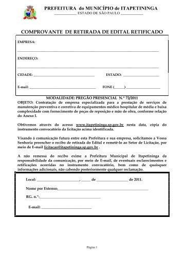 Contratação de empresa especializada para a prestação de ...