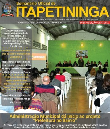 no município - Prefeitura Municipal de Itapetininga - Governo do ...
