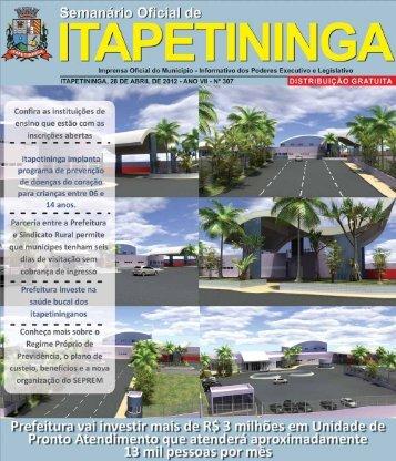Prefeitura de Itapetininga decreta ponto facultativo no dia 30