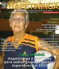 CIDADE SAUDÁVEL E LEGAL - Prefeitura Municipal de Itapetininga