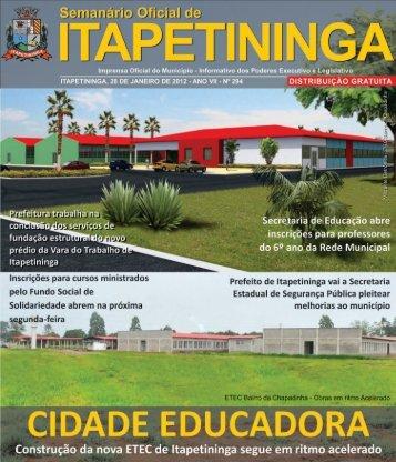 Foto da Semana - Prefeitura Municipal de Itapetininga - Governo do ...