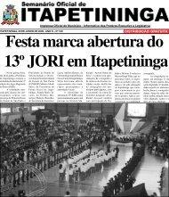 DISTRIBUIÇÃO GRATUITA - Prefeitura Municipal de Itapetininga