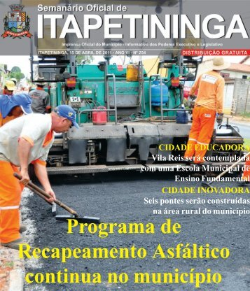 Programa de Recapeamento Asfáltico continua no município