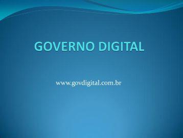 GOVERNO DIGITAL - Prefeitura Municipal de Itapetininga