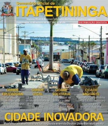 cidade educadora - Prefeitura Municipal de Itapetininga