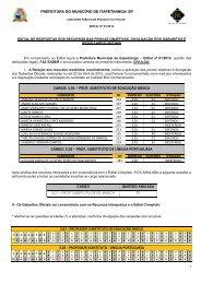Concurso Público de Provas e Títulos - Edital nº 001/2010