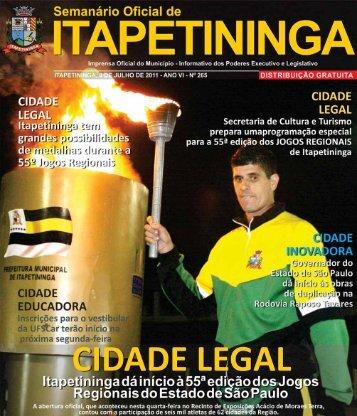 cidade legal - Prefeitura Municipal de Itapetininga - Governo do ...