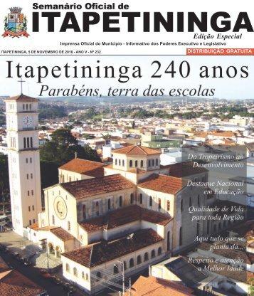 Edição Especial - Prefeitura Municipal de Itapetininga